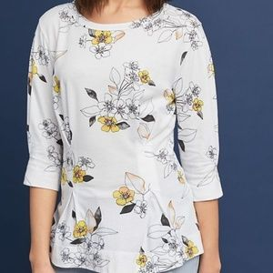 Anthropologie | T.La Rooney Floral Printed Tunic